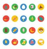 Διανυσματικά εικονίδια 8 τροφίμων Στοκ Εικόνες