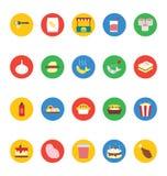 Διανυσματικά εικονίδια 7 τροφίμων Στοκ Φωτογραφία