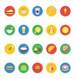 Διανυσματικά εικονίδια 9 τροφίμων Στοκ Εικόνες