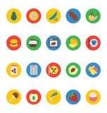 Διανυσματικά εικονίδια 13 τροφίμων Στοκ Εικόνες