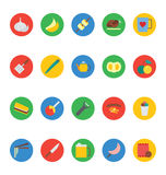 Διανυσματικά εικονίδια 14 τροφίμων Στοκ φωτογραφία με δικαίωμα ελεύθερης χρήσης