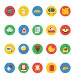 Διανυσματικά εικονίδια 15 τροφίμων Στοκ εικόνα με δικαίωμα ελεύθερης χρήσης
