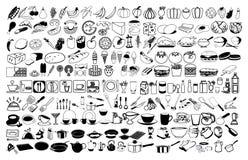 Διανυσματικά εικονίδια των τροφίμων Στοκ Φωτογραφίες