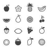 Διανυσματικά εικονίδια φρούτων Στοκ φωτογραφία με δικαίωμα ελεύθερης χρήσης