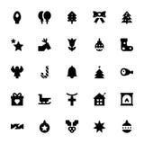Διανυσματικά εικονίδια 1 Χριστουγέννων και Πάσχας Στοκ φωτογραφίες με δικαίωμα ελεύθερης χρήσης