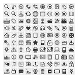 25 διανυσματικά εικονίδια Στοκ Εικόνες