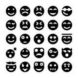 Διανυσματικά εικονίδια 1 Smiley Στοκ φωτογραφίες με δικαίωμα ελεύθερης χρήσης