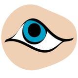 Διανυσματικά κινούμενα σχέδια ματιών Στοκ Εικόνα