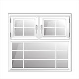 Διανυσματικά παράθυρα πλαστικό Glosed Στοκ Εικόνες