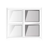 Διανυσματικά παράθυρα πλαστικό Glosed Στοκ φωτογραφία με δικαίωμα ελεύθερης χρήσης