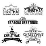 Διανυσματικά σημάδια Χριστουγέννων Στοκ Φωτογραφία