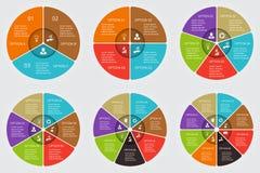 Διανυσματικά στοιχεία κύκλων που τίθενται για infographic Στοκ Φωτογραφία