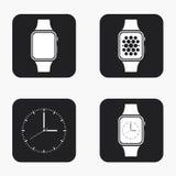 Διανυσματικά σύγχρονα εικονίδια smartwatch καθορισμένα Στοκ φωτογραφίες με δικαίωμα ελεύθερης χρήσης
