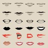 Διανυσματικά χείλια Στοκ εικόνες με δικαίωμα ελεύθερης χρήσης