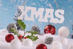 διανυσματικά Χριστούγεννα απεικόνισης καρτών Στοκ Εικόνες