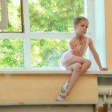 διανυσματικές νεολαίες απεικόνισης κινούμενων σχεδίων ballerina Στοκ Φωτογραφίες