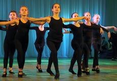 διανυσματικές νεολαίες απεικόνισης κινούμενων σχεδίων ballerina Στοκ Εικόνες