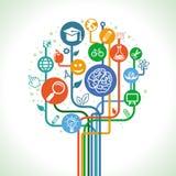 Διανυσματική έννοια εκπαίδευσης και επιστήμης Στοκ Εικόνες