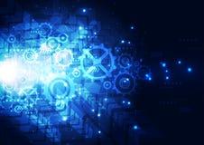 Διανυσματική απεικόνισης έννοια τεχνολογίας υψηλής τεχνολογίας ψηφιακή, αφηρημένο υπόβαθρο Στοκ φωτογραφία με δικαίωμα ελεύθερης χρήσης