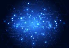 Διανυσματική απεικόνισης έννοια τεχνολογίας υψηλής τεχνολογίας ψηφιακή, αφηρημένο υπόβαθρο Στοκ Φωτογραφία
