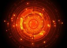 Διανυσματική απεικόνισης έννοια τεχνολογίας υψηλής τεχνολογίας ψηφιακή, αφηρημένο υπόβαθρο Στοκ φωτογραφίες με δικαίωμα ελεύθερης χρήσης