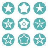 διανυσματική απεικόνιση εικονιδίων αστεριών Στοκ Εικόνες