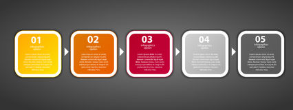 Διανυσματική απεικόνιση επιχειρησιακών προτύπων Infographic Στοκ Φωτογραφία
