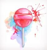 Διανυσματική απεικόνιση καραμελών Lollipop Στοκ φωτογραφία με δικαίωμα ελεύθερης χρήσης