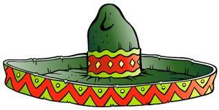 Διανυσματική απεικόνιση κινούμενων σχεδίων ενός μεγάλου μεξικάνικου καπέλου σομπρέρο Στοκ εικόνα με δικαίωμα ελεύθερης χρήσης