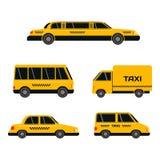 Διανυσματική απεικόνιση μεταφορών οδικών κίτρινη ταξί πόλεων Στοκ Εικόνα