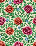 Διανυσματική απεικόνιση λουλουδιών πρότυπο άνευ ραφής Στοκ Φωτογραφίες