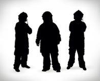 Διανυσματική απεικόνιση σκιαγραφιών πυροσβεστών Στοκ Εικόνα