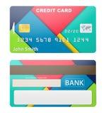 Διανυσματική απεικόνιση της λεπτομερούς πιστωτικής κάρτας Στοκ Φωτογραφία