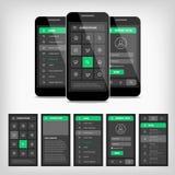 διανυσματική απεικόνιση του κινητού ui απεικόνιση αποθεμάτων