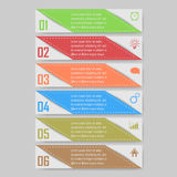 Διανυσματική απεικόνιση Infographic μπορέστε να χρησιμοποιηθείτε για το σχεδιάγραμμα ροής της δουλειάς, διάγραμμα, optionsinfogra Στοκ εικόνες με δικαίωμα ελεύθερης χρήσης