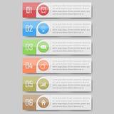 Διανυσματική απεικόνιση Infographic μπορέστε να χρησιμοποιηθείτε για το σχεδιάγραμμα ροής της δουλειάς, διάγραμμα, optionsinfogra Στοκ Φωτογραφίες
