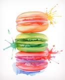 Διανυσματική απεικόνιση Macarons Στοκ Εικόνες