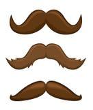 Διανυσματική απεικόνιση Mustaches στο λευκό Στοκ Εικόνα