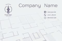 Διανυσματική αρχιτεκτονική επαγγελματική κάρτα Στοκ φωτογραφία με δικαίωμα ελεύθερης χρήσης