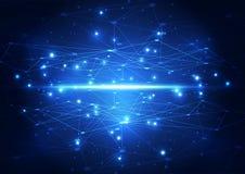 Διανυσματική αφηρημένη μελλοντική τεχνολογία δικτύων, υπόβαθρο απεικόνισης Στοκ Εικόνες