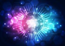 Διανυσματική αφηρημένη μελλοντική τεχνολογία, υπόβαθρο απεικόνισης Στοκ Φωτογραφίες