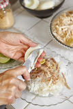 διανυσματική γυναίκα προετοιμασιών κουζινών απεικόνισης τροφίμων Στοκ Εικόνες