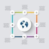 Διανυσματική ζωηρόχρωμη γραφική παράσταση πληροφοριών για τις επιχειρησιακές παρουσιάσεις σας Στοκ Φωτογραφίες
