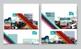 Διανυσματική κάλυψη προτύπων σχεδίου ιπτάμενων φυλλάδιων επιχειρησιακών εκθέσεων pres Στοκ Εικόνα
