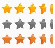 Διανυσματική καθορισμένη απεικόνιση ζωτικότητας αστεριών Στοκ Εικόνες