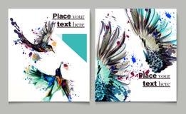 Διανυσματική παρουσίαση κάλυψης προτύπων σχεδίου ιπτάμενων φυλλάδιων εκθέσεων Στοκ Εικόνα
