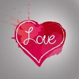 διανυσματική ρομαντική κάρτα αγάπης Στοκ Εικόνα