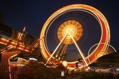 διανυσματική ρόδα πάρκων νύχτας ferris διασκέδασης Στοκ φωτογραφία με δικαίωμα ελεύθερης χρήσης