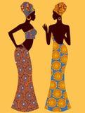 Διανυσματική σκιαγραφία απεικόνισης μιας όμορφης αφρικανικής γυναίκας Στοκ Φωτογραφία
