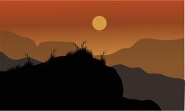 Διανυσματική σκιαγραφία της χλόης Στοκ φωτογραφία με δικαίωμα ελεύθερης χρήσης